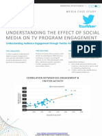 Case Study Understanding the Effect of Social Media on Tv Program Engagement