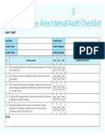 Production Site Area Internal Audit Checklist