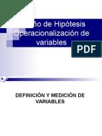 OperacionaL. de La Hipóteisi y Variables
