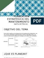 Planeación Estrategica Del Mtto Industrial