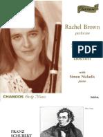 Rachel Brown performs Schubert and Boehm