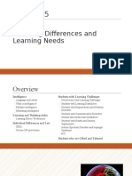 CHAPTER 5 - Learning Differences and Learning Needs