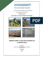 2011 GE33 Memoria Geologia Economica Cusco