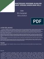 Isolasi Dan Karakterisasi Senyawa Alkaloid