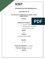 Procesamiento de Minerales Lab 10