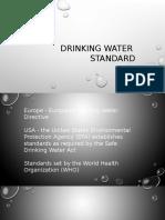 Drinking Water Standard