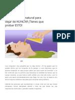 Solucion Facil y Natural Para Dejar de RONCAR - Stop Snoring