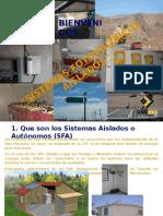 Sistemas Aislados Paneles Fotovoltaicos