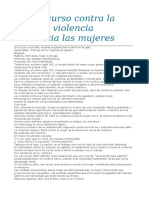 Discurso Del Día Internacional Contra La Violencia Hacia Las mujeres