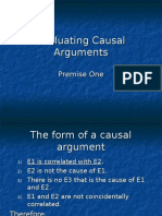 Evaluating Causal Arguments