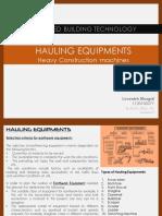 Hauling Equipments