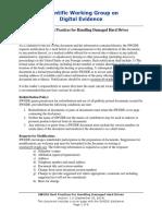 2014-09-05 SWGDE Best Practices for Handling Damaged Hard Drives