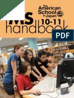 ASIJ Middle School Handbook 2010-11