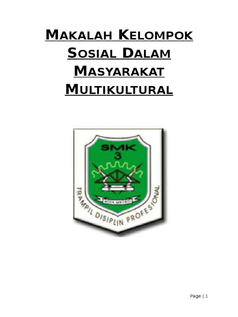 Contoh Makalah Kelompok Sosial Dalam Masyarakat Multikultural Barisan Contoh