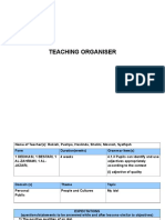 Teaching Organiser - Sample