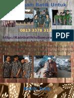 Seragam Batik Untuk Karyawan  0813 3378 3133