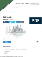 Me2103 Quiz - ProProfs Quiz