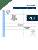 Cronograma de ActividadesProyecto de Investigación