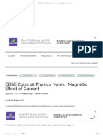 CBSE Class 12 Physics Notes _ Magnetic Effect of Current