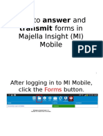 How to Answer and Transmit Forms in MI Mobile