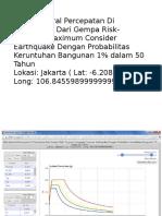 Nilai Spektral Percepatan Di Permukaan Dari Gempa Risk-Targeted