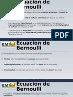 Ecuación de Bernoulli Terminado