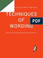 Techniques of Wording