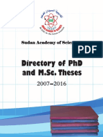 Directory of PhD and M.sc.Theses