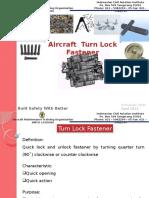 13. Aircraft Turn Lock Fastener