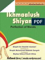 Ikhmaal Ush Shiyam Perfection of Morals