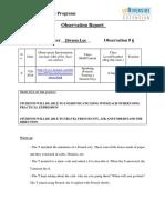6 observation report