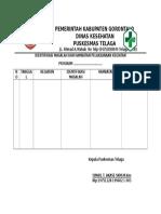 Format Identifikasi Masalah Dan Hambatan Pelaksanaan Keg Ukm