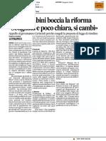 Ersu, Gambini boccia la riforma - Il Corriere Adriatico del 13 novembre 2016