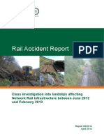 Investigations Report on Landslips Affecting Rail Infrastructure