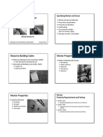 Specifying Mortar and Grout Handout