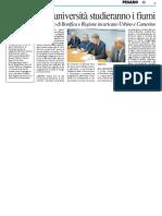 Due università studieranno i fiumi - Il Resto del Carlino del 12 novembre 2016