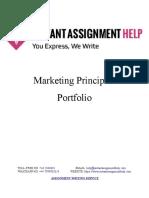Sample Assignment on Marketing Principles Portfolio