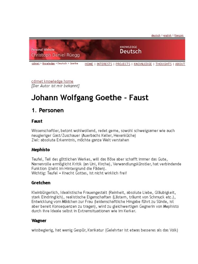 Faust charakterisierung gretchen