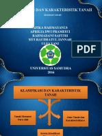 Klasifikasi Dan Karakteristik Tanah