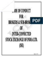 Code of Conduct for Brokers and Sub-brokers