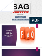 Frequently Asked Questions (FAQs) on Goods and Services Tax(GST)