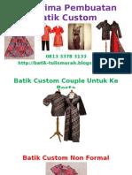 Menerima Pembuatan Batik Custom