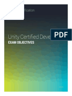 Unity3d Certified Developer Exam Objectives and Prep Topics