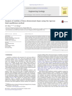 Analysis of Stability of Three-dimensional Slopes Using the Rigorous