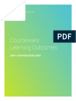 Unity Certified Developer Courseware Learning Outcomes_ Detailed