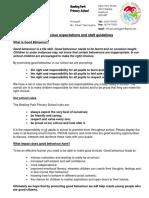 Behaviour Policy September 2016