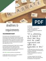 deadlines   requirements  3