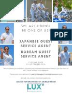 Japanese Korean Guest Service Agent (1)