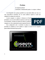 Manual de Utilizare Cosmote My Tab