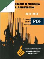 Precios Unitarios de Referencia Para La Construcción. Cochabamba. 2015-2016
